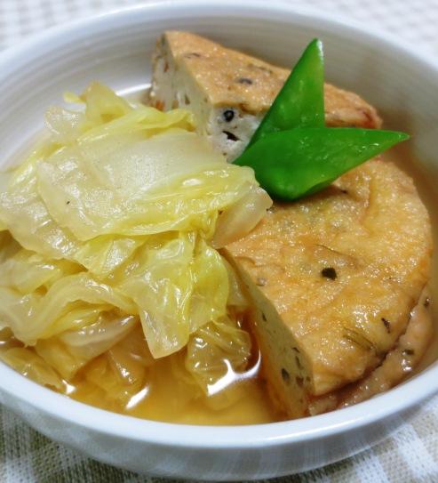 白菜とがんもどきの煮物 B