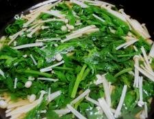 春菊とえのき茸のさっと煮 調理