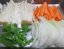 豆腐と鱈(たら)の中華風煮込み 【下準備】①