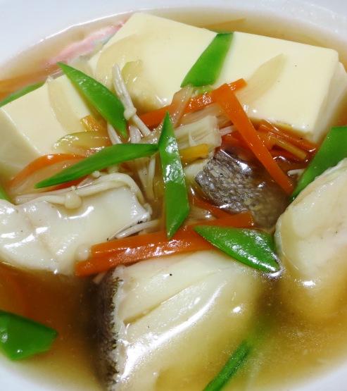 豆腐と鱈(たら)の中華風煮込み 大