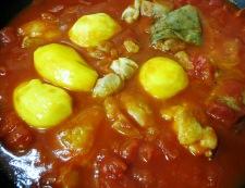鶏肉とキャベツのトマト煮 調理③