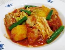 鶏肉とキャベツのトマト煮 調理⑥
