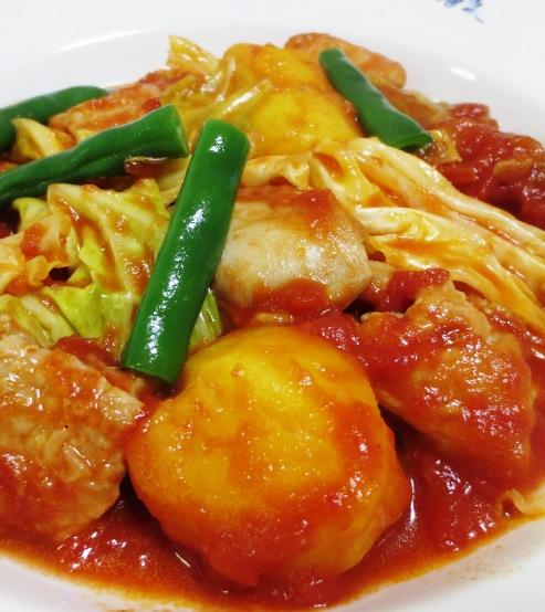 鶏肉とキャベツのトマト煮 拡大