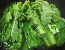 菜の花のナムル 調理