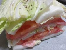 白菜と豚こまトマトの重ね焼き 調理③