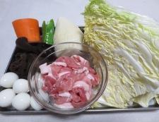 豚こま八宝菜 材料①