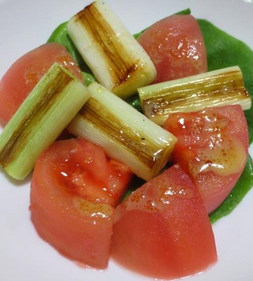 焼きネギとトマトのサラダ 大
