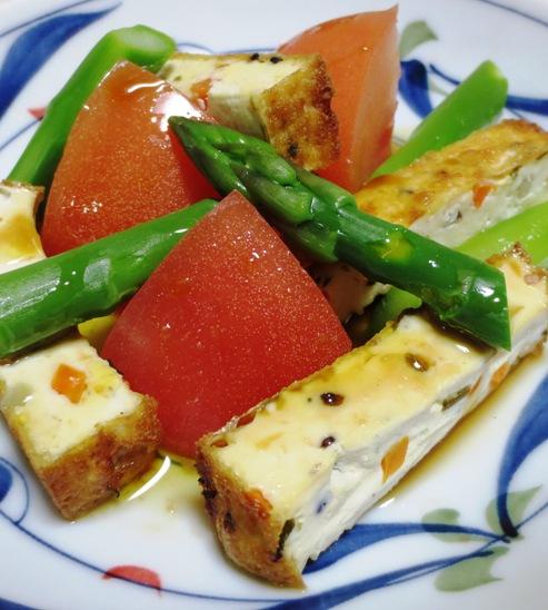 アスパラトマト厚揚げサラダ B