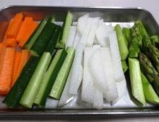 いかくんスティックサラダ 調理①