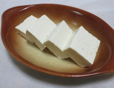 豆腐のオーロラチーズ焼き 調理①