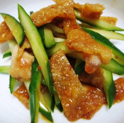 鶏皮ときゅうりのピリ辛サラダ B