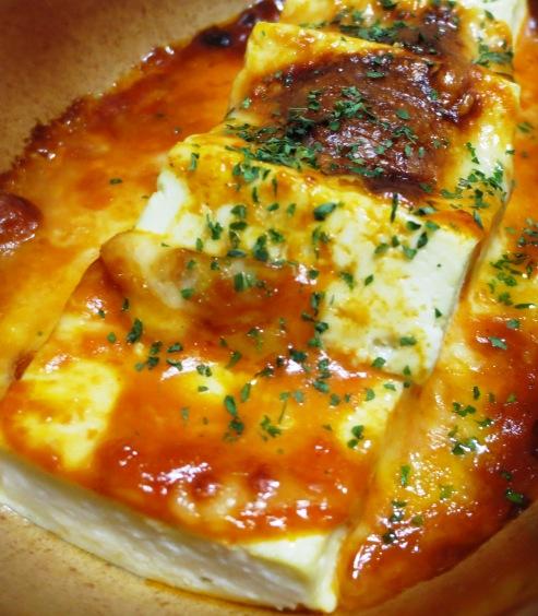 豆腐のオーロラチーズ焼き 大