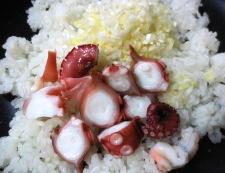タコケチャップ炒飯オのムライス 調理②