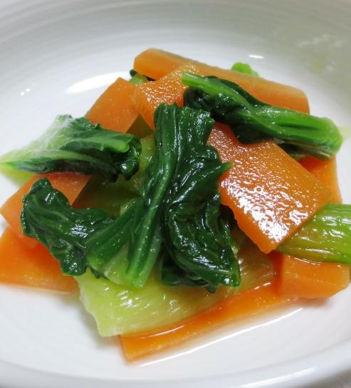 青梗菜のからし酢醤油和え B