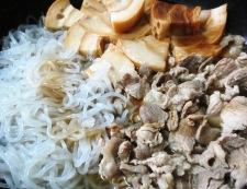 豚こまとしらたきのすき焼き風 調理②