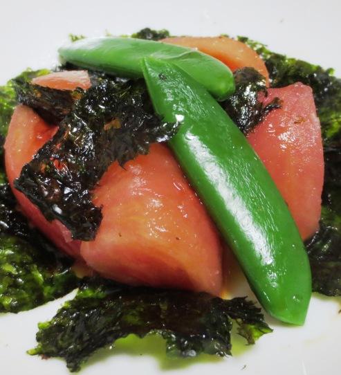 トマトと韓国海苔のサラダ 大