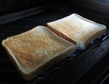 キャベツとハムのサンドイッチ 調理①