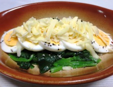 ほうれん草とゆで卵のチーズ焼き 調理③