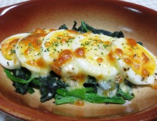 ほうれん草とゆで卵のチーズ焼き 調理④