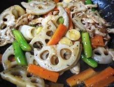豚肉と根菜の黒胡椒炒め 調理⑥
