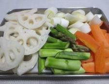 豚肉と根菜の黒胡椒炒め 調理①