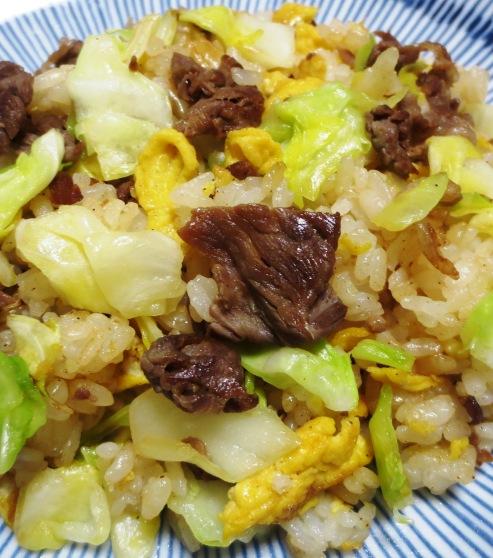 牛肉とキャベツの炒飯 大