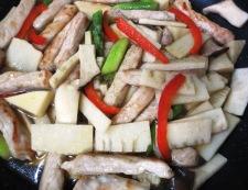 豚肉のわさびオイスターソース炒め 調理⑤