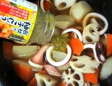 イカと根菜の柚子こしょう煮 調理⑤