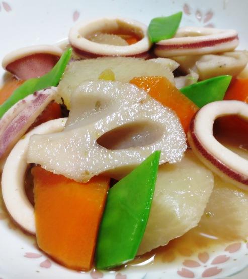 イカと根菜の柚子こしょう煮 B
