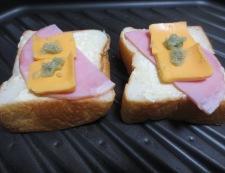 チーズわさびトースト 調理②