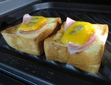 チーズわさびトースト 調理③