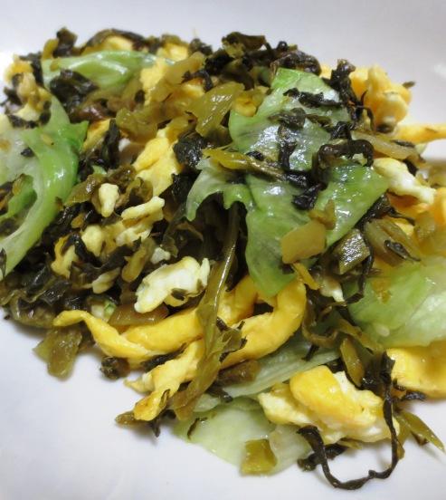 高菜漬けとレタスの炒め物 B