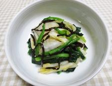 白菜の漬物とほうれん草の塩昆布和え 調理⑥