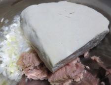 ツナと豆腐の松風焼き 調理①