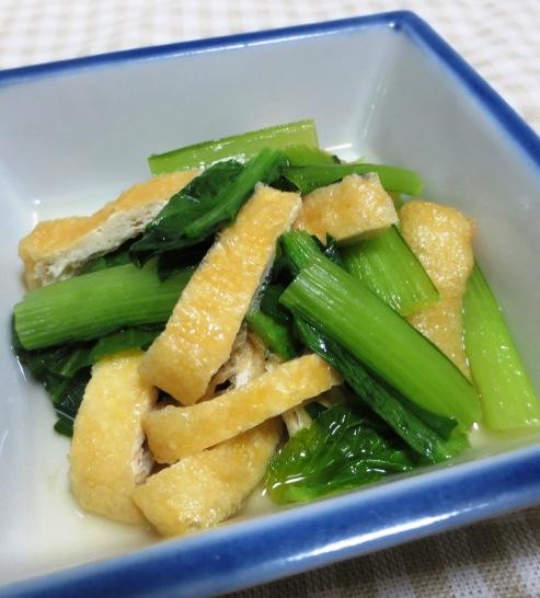 小松菜とお揚げの炊いたん 大B