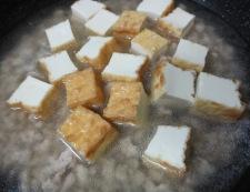 絹揚げとキャベツのそぼろ煮 調理③