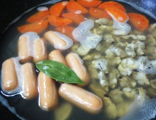 あさりと春キャベツのスープ煮 調理②