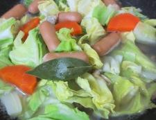 あさりと春キャベツのスープ煮 調理④