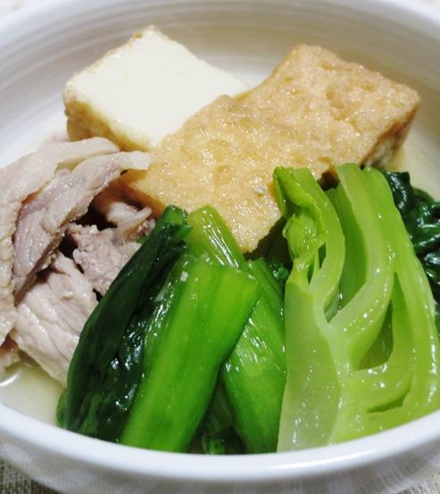 青梗菜と絹揚げの煮物 B