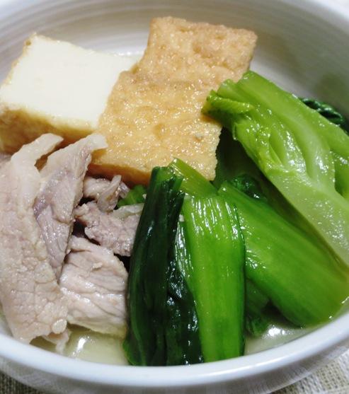 青梗菜と絹揚げの煮物 大
