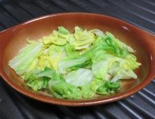 キャベツと卵のミートソースグラタン 調理①