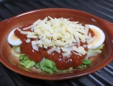 キャベツと卵のミートソースグラタン 調理③
