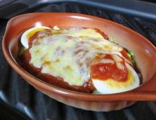 キャベツと卵のミートソースグラタン 調理④