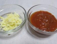 キャベツと卵のミートソースグラタン 材料②