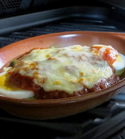 キャベツと卵のミートソースグラタン 拡大②