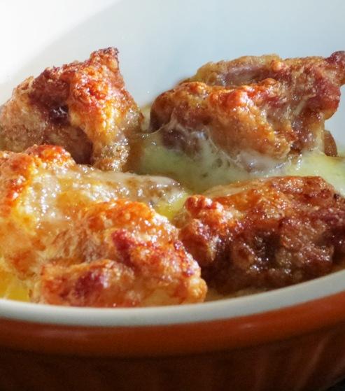 鶏の唐揚げチーズ焼き<塩ジャン> 大改