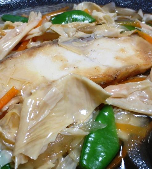 白身魚の湯葉あんかけ 大