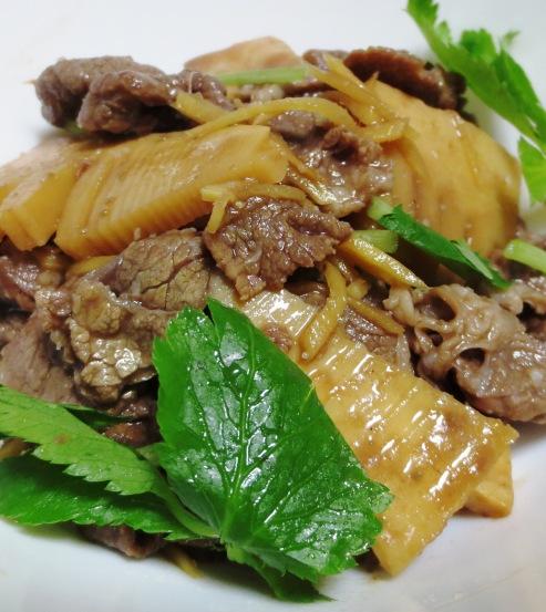 牛肉と筍のしぐれ煮 大