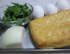 お揚げの卵とじ丼 材料
