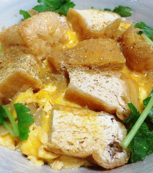お揚げの卵とじ丼 拡大